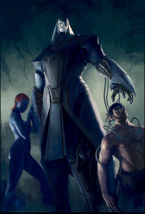 X-MENのウルヴァリンとミスティークの壁紙