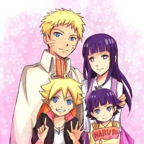 NaruHina 壁纸 with 日本动漫 titled 1 BIG HAPPY FAMILY