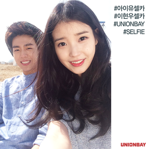 150429 IU and Hyun Woo for UNIONBAY Facebook update