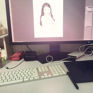150505 ‎IU‬ is being edited on this computer