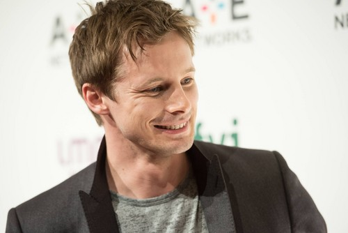 Bradley James wallpaper probably with a business suit and a portrait called A E Networks Upfront 2015