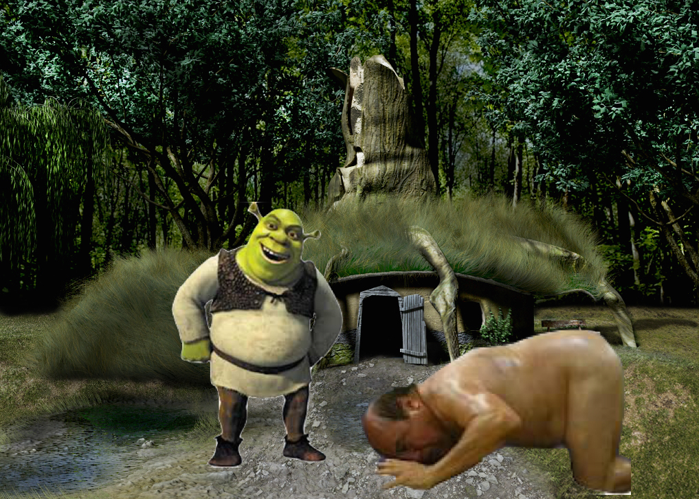 A Loyal Shrek Follower Bowing Down To The Ogrelord At His Swamp Shrek Photo 38458598 Fanpop Page 6