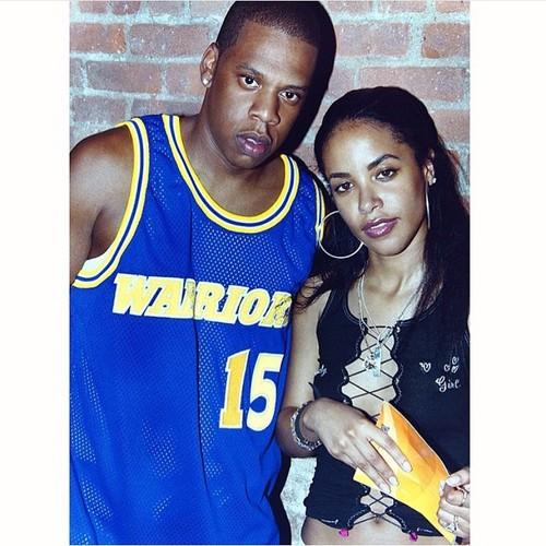 Aaliyah wallpaper titled Aaliyah & Jay-Z *rare shot*