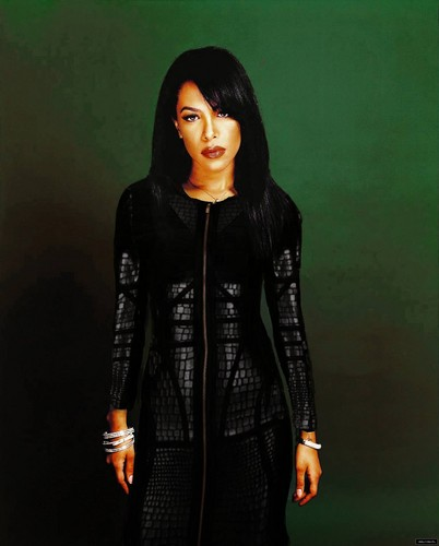 Aaliyah wallpaper possibly containing a well dressed person, an overgarment, and a box coat entitled Aaliyah Edit [Matrix inspired]