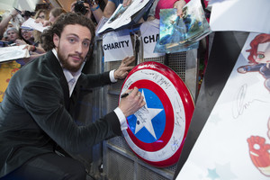 Aaron Taylor-Johnson aka Quicksilver Red Carpet at Avengers Age of Ultron UK Premiere