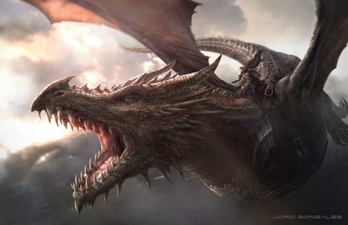 A Song of Ice and Fire wallpaper probably containing a triceratops called Aegon Balerion
