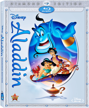 Aladdin: Diamond Edition Blu-Ray Cover