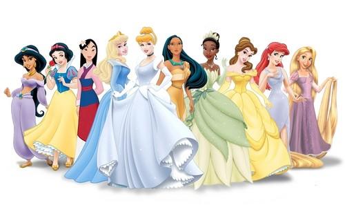 Ten Original Disney Princesses fond d'écran probably containing a bridesmaid, a gown, and a dîner dress titled Alafastazio's Line-up