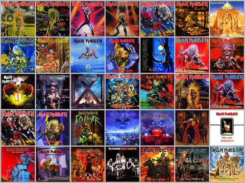 Iron Maiden wallpaper with anime entitled Album Collage
