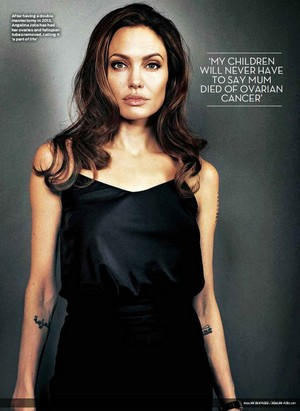 Angelina Jolie on magazine