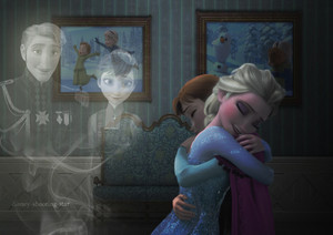 Anna, Elsa and their Parents