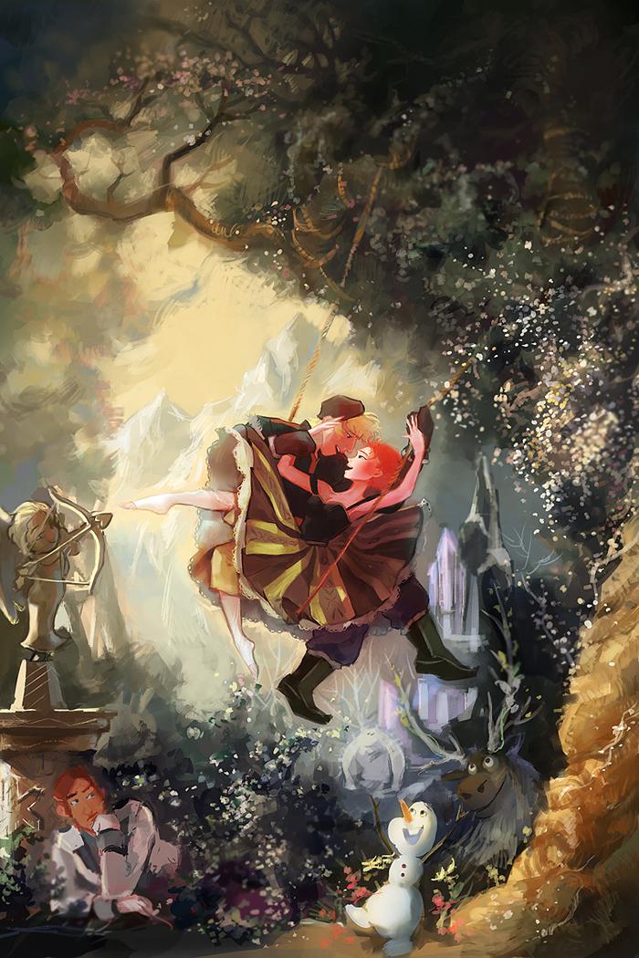 Anna and Kristoff - Frozen Fan Art (38415653) - Fanpop