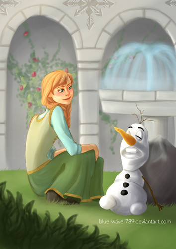 Princess Anna wallpaper probably containing a bouquet entitled Anna and Olaf