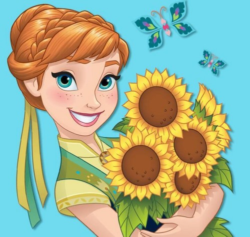 Frozen Fever Hintergrund possibly containing Anime entitled Anna