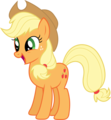 applejack smiling o laghing watever it is its there