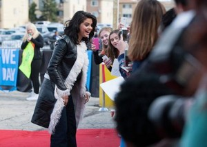 April 30th Selena on the red carpet at We Day Illinois.