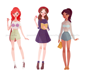 Ariel, Belle and jasmim