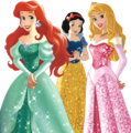 Walt Disney larawan - Princess Ariel, Snow White and Aurora - .png file