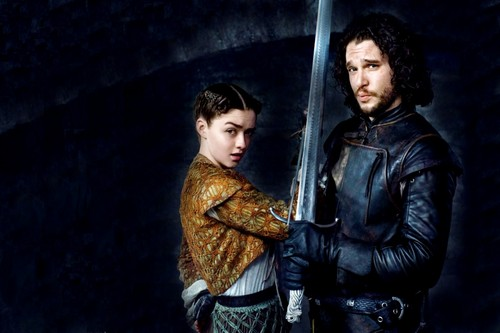 Game of Thrones wallpaper entitled Arya Stark and Jon Snow