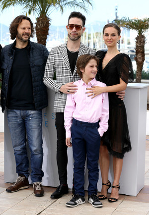Attending a photocall for 'A Tale of tình yêu and Darkness' during the 68th annual Cannes Film Festi