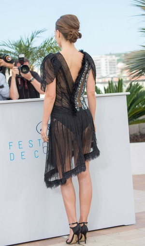 Attending a photocall for 'A Tale of Love and Darkness' during the 68th annual Cannes Film Festi