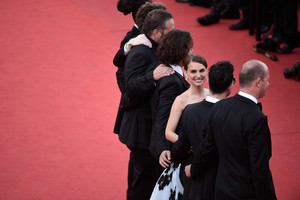 Attending the 'A Tale Of l'amour And Darkness' Premiere during the 68th annual Cannes Film Festival