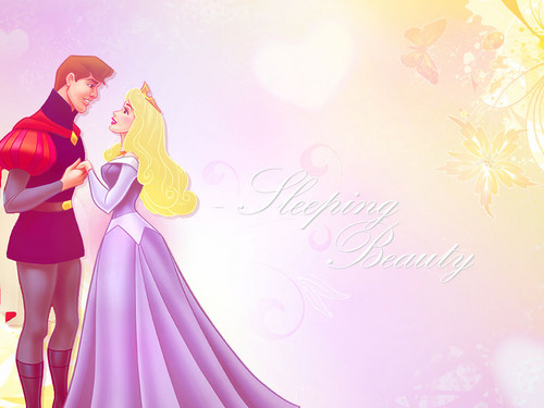 Princess Aurora wallpaper probably containing a cena dress entitled Aurora and Philip wallpaper