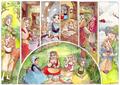 Aurora and The Three Good Fairies Through The Years - disney-princess fan art