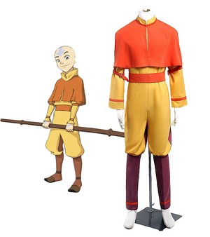 アバター Aang Cosplay Costume