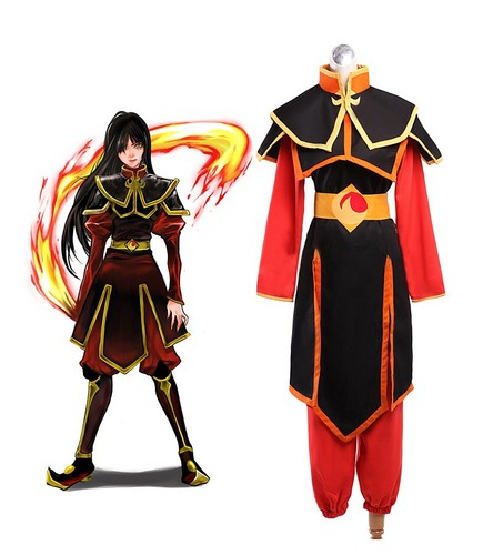Avatar The Last Airbender karatasi la kupamba ukuta containing a surcoat entitled Avatar Azula Cosplay Costume