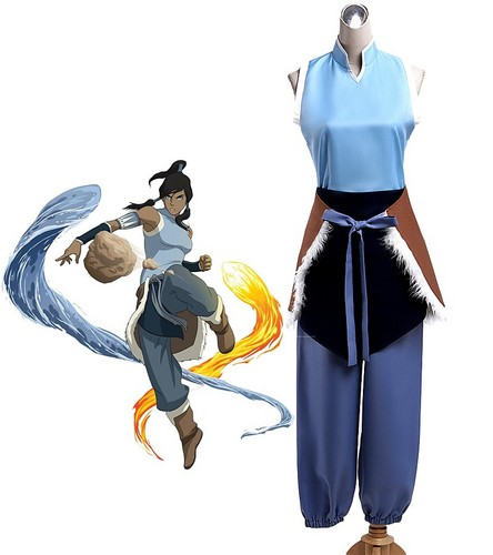 아바타 더 라스트 에어벤더 바탕화면 probably containing a surcoat, a tabard, and a diving suit titled 아바타 Korra Cosplay Costume