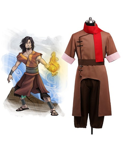 Avatar: The Last Airbender پیپر وال probably with a surcoat, سورکوت and a tabard, تکمہ entitled Avatar Won Cosplay Costume