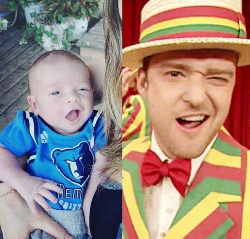 Justin Timberlake wallpaper called Timberlake and his Baby