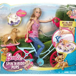 barbie Spin'n Ride Pups Playset (Barbie and Her Sisters: The Great anak anjing, anjing Adventure)