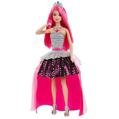 Sinema za Barbie karatasi la kupamba ukuta entitled Barbie in Rock'n Royals Courtney imba Doll