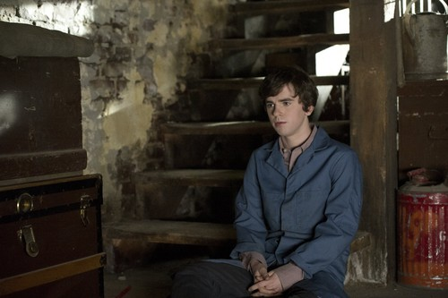 "Bates Motel پیپر وال probably containing a fireplace, a lumbermill, and a living room called Bates Motel ""The Last Supper"" (3x07) promotional picture"