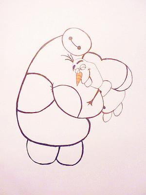 Baymax and Olaf