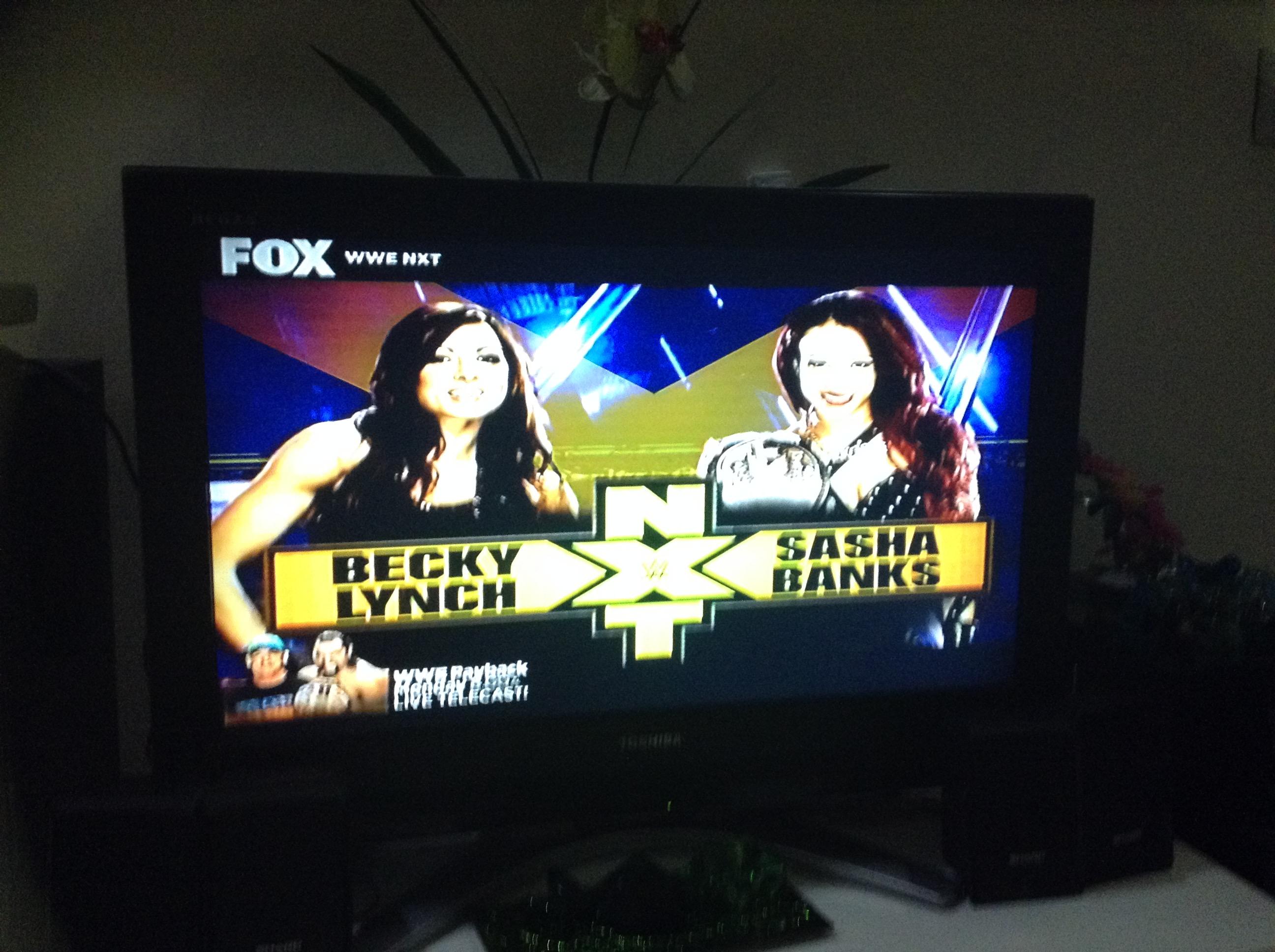 WWE NXT Images Becky Lynch Vs Sasha Banks At