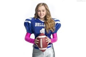 Bella in her football jersey
