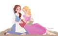 Belle and Rapunzel - disney-princess fan art