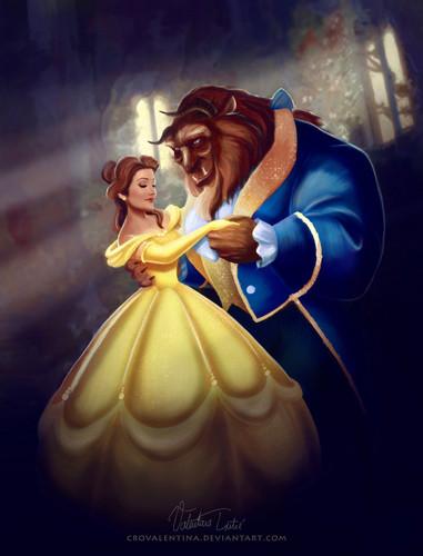 películas animadas fondo de pantalla titled Belle and the Beast