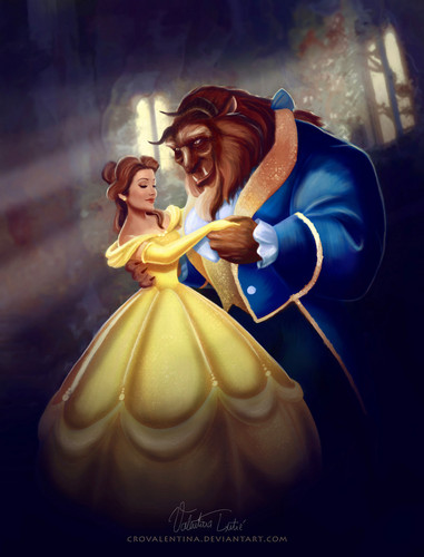 Princess Belle wallpaper titled Belle and the Beast