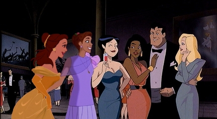 Belle & Anya Meet Bruce Wayne (a k a Batman) - disney