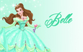 disney-princess - Belle in green  wallpaper