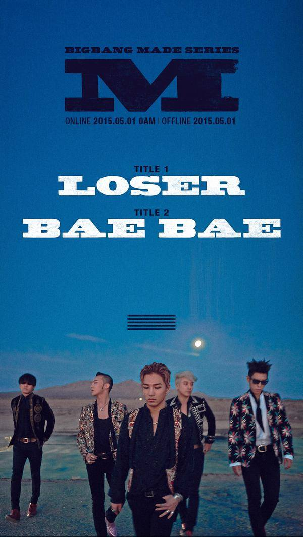 Big Bang announce comeback project, 'MADE SERIES', with two songs, 'Loser' and 'Bae Bae'!