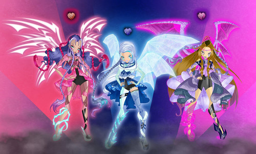 The Winx Club پیپر وال titled Black Hearts