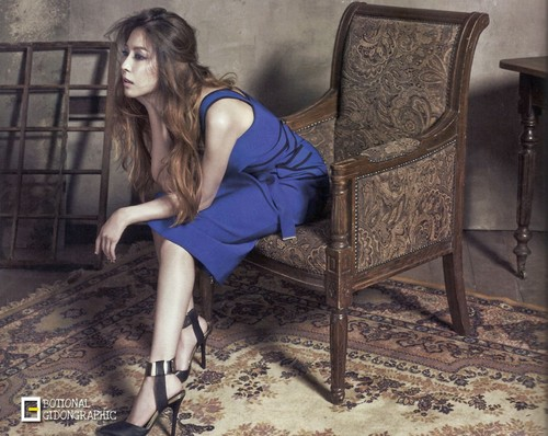 BoA fond d'écran probably containing a throne, tights, and a combishort, combinaison de jeu, combi titled BoA for The Celebrity Magazine May 2015
