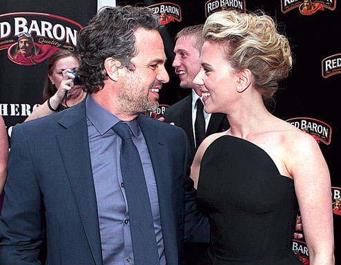Bruce and Nat ( Mark and Scarlett)