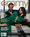 Caitriona Balfe and Sam Heughan on Emmy Magazine Cover