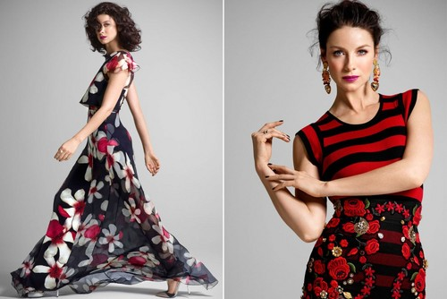 outlander série de televisão 2014 wallpaper probably containing a jantar dress called Caitriona Balfe on NY Post Photoshoot